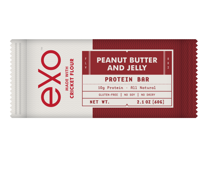 Peanut Butter & Jelly Protein Bar - Edible Insects