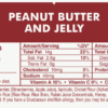 Peanut Butter & Jelly Protein Bar Nutrition Label