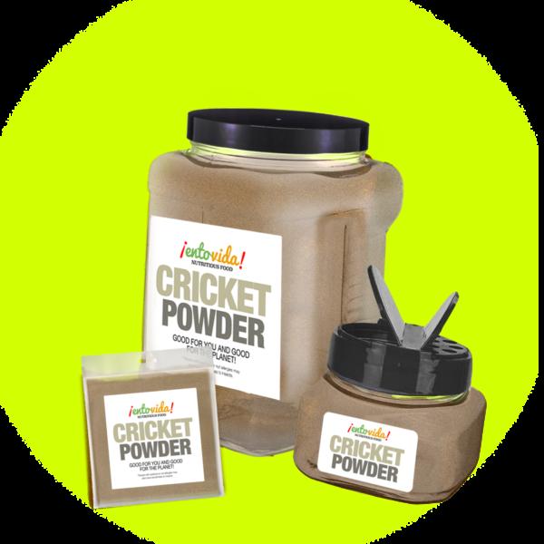 Quantities of cricket powder