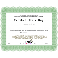 Ate a Bug Certificate