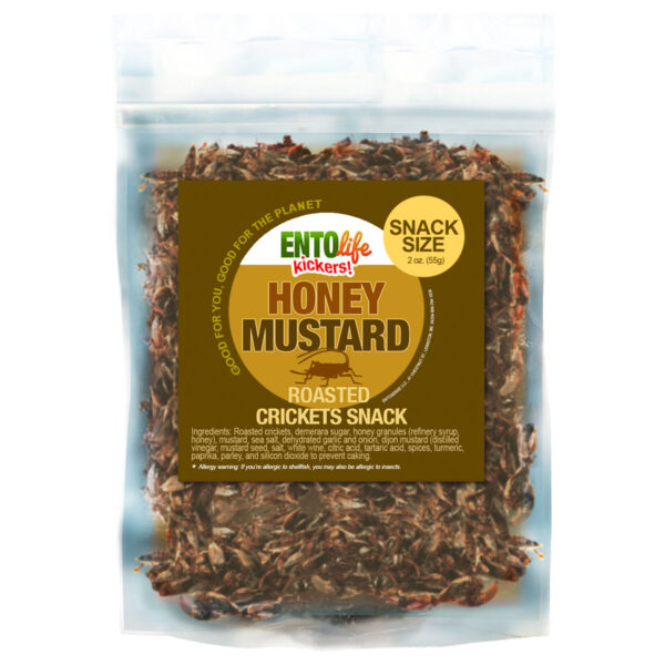 Honey Mustard Flavored Crickets Raised for Human Consumption