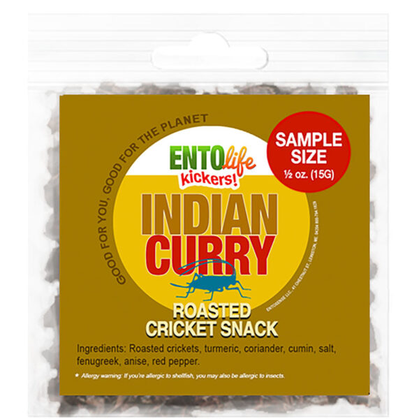 Indian Curry Flavored Edible Crickets