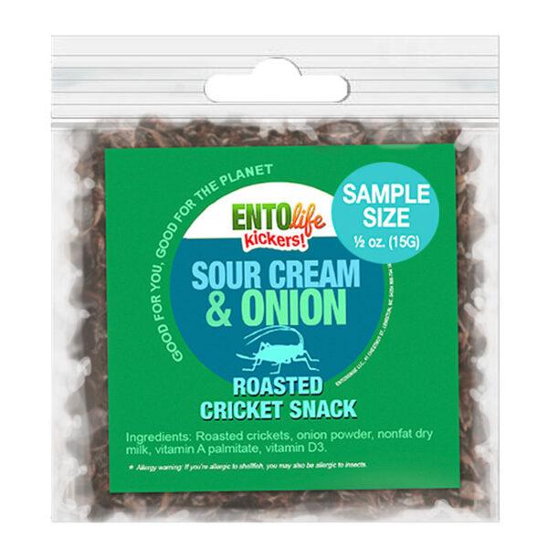 Sour Cream & Onion Flavored Edible Crickets