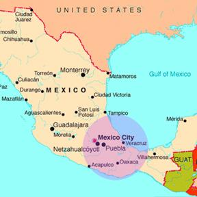 Map of mexico oaxaca