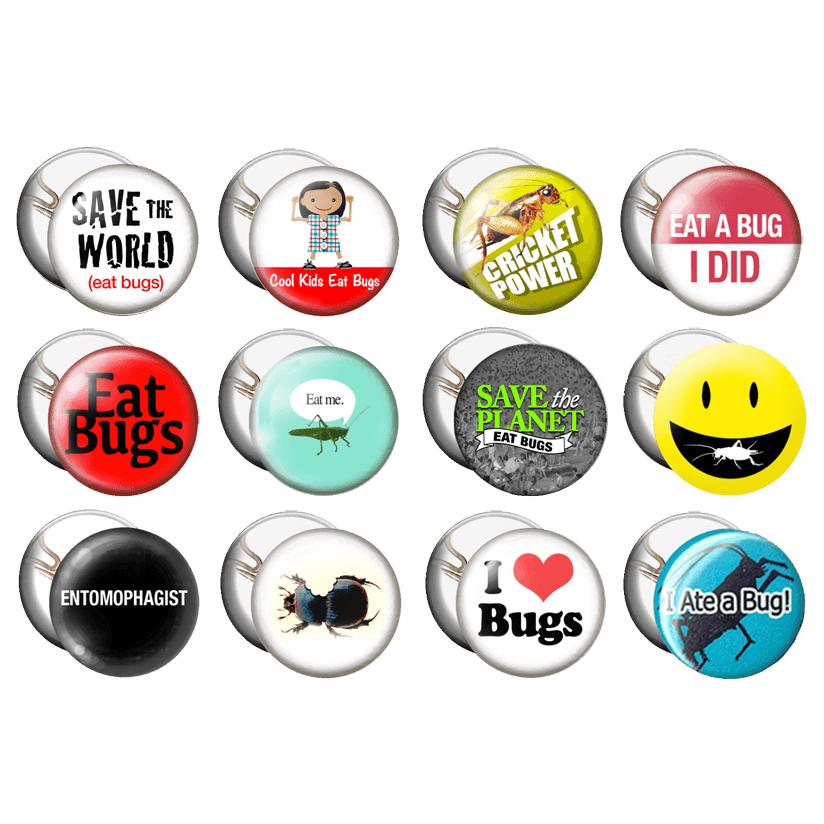 12 Entomophagy Buttons