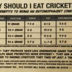 Cricket Crunch Bar Nutrition Label