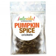 Roasted Crickets with a Pumpkin Spice flavor.