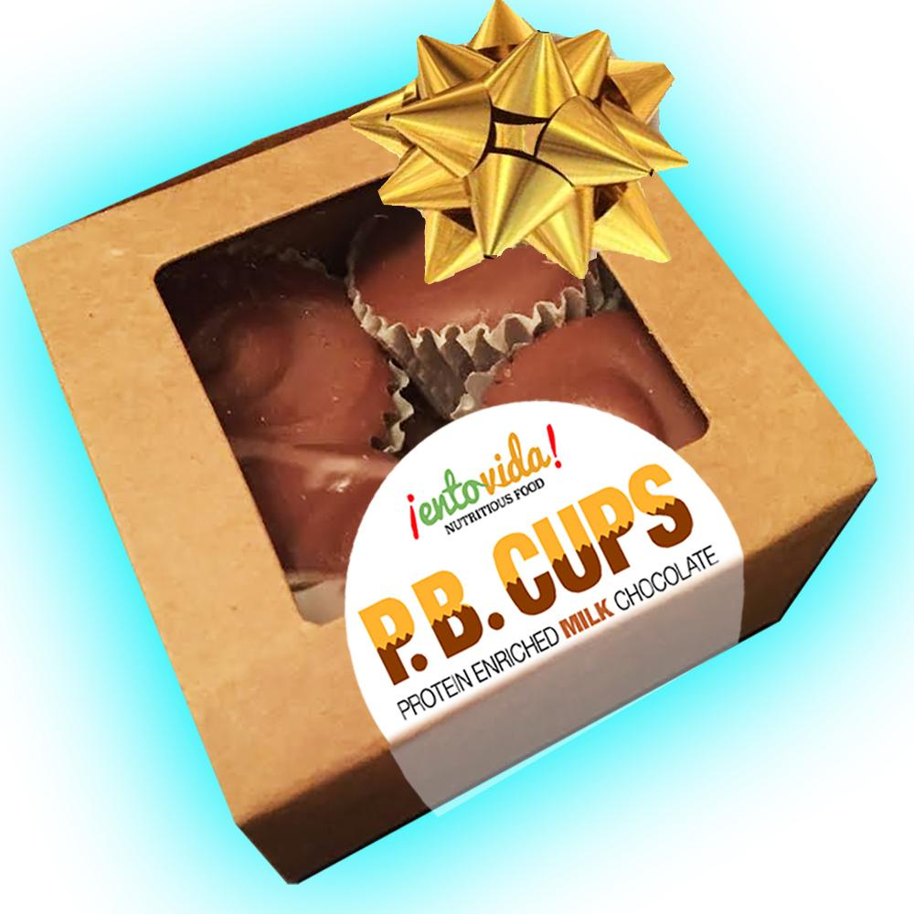 MILK CHOCOLATE P.B. CUPS MADE WITH CRICKET POWDER