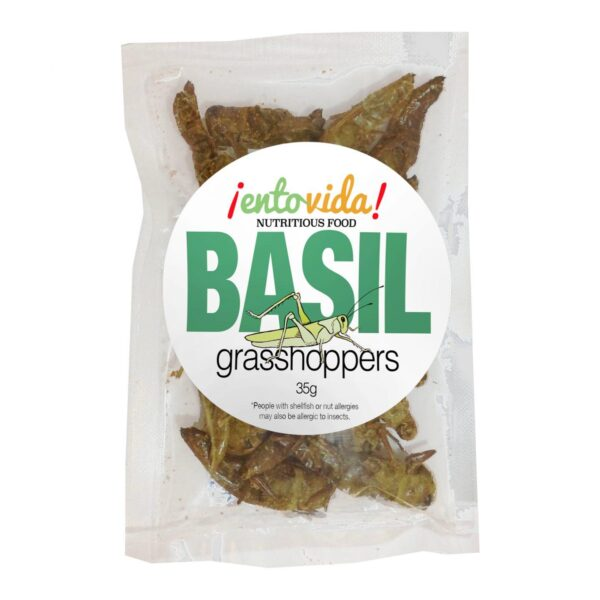 Basil Edible Grasshoppers