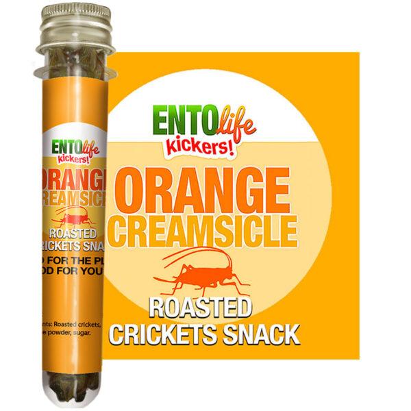 Orange Creamsicle Edible Crickets for Human Consumption