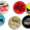 Six Entomophagy Buttons
